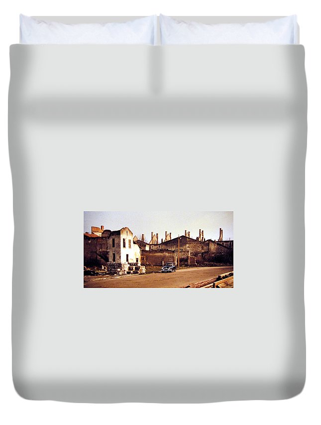 1955 Duvet Cover featuring the photograph Ten Years After The Bombs 1955 by Will Borden