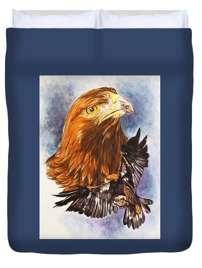 Eagle Duvet Cover featuring the mixed media Tenacity by Barbara Keith