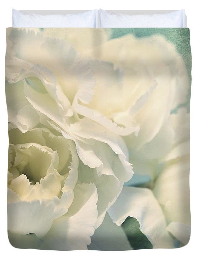 Carnation Duvet Cover featuring the photograph Tenderly by Priska Wettstein