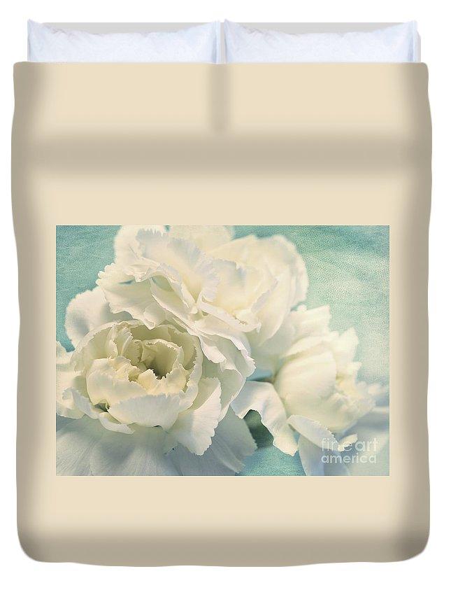 Carnation Duvet Cover featuring the photograph Tenderly by Priska Wettstein