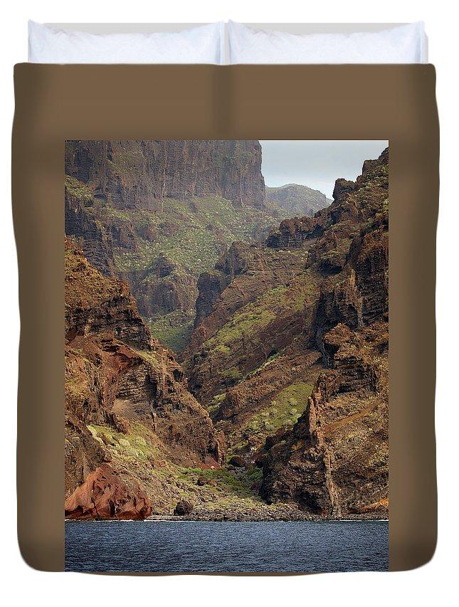 Valasretki Duvet Cover featuring the photograph Tenerife Coastline by Jouko Lehto