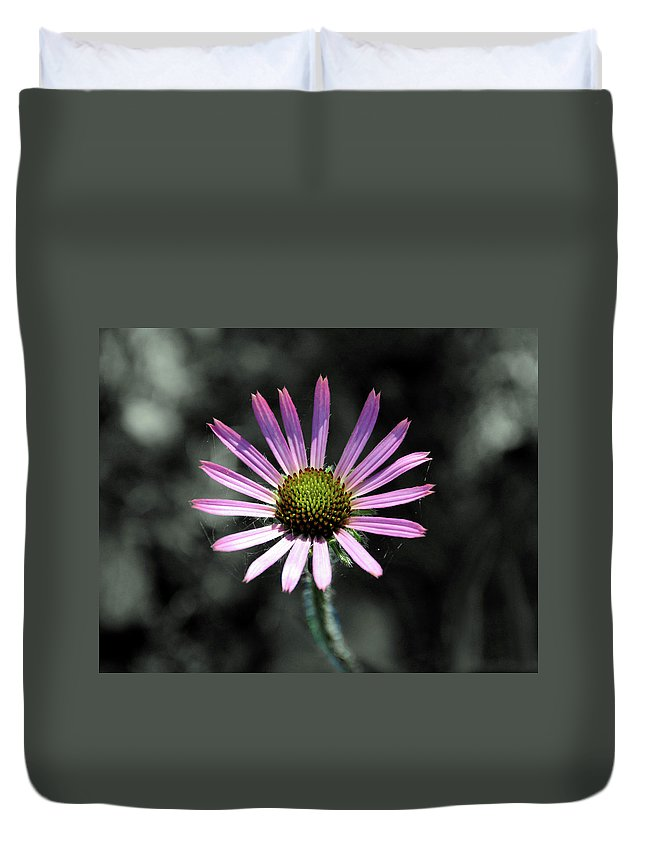 Wildflower Duvet Cover featuring the photograph Tennessee Cone Flower by Angela Ford
