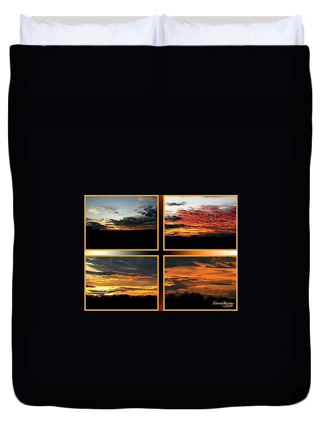 Sunset Duvet Cover featuring the photograph Tennessee Sunset by Ericamaxine Price
