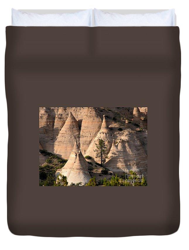 Tent Rocks Wilderness Duvet Cover featuring the photograph Tent Rocks Wilderness by David Lee Thompson