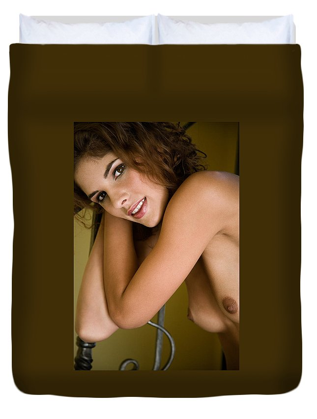 Sensual Duvet Cover featuring the photograph Tereza by Olivier De Rycke