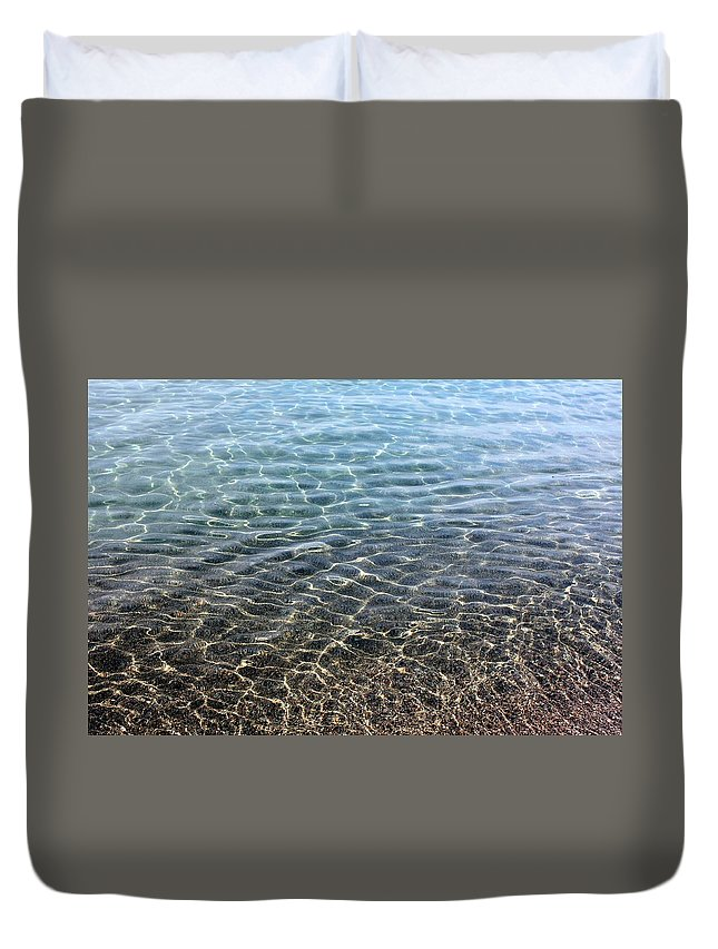 Terrace Bay Duvet Cover featuring the photograph Terrace Bay by Pat Purdy