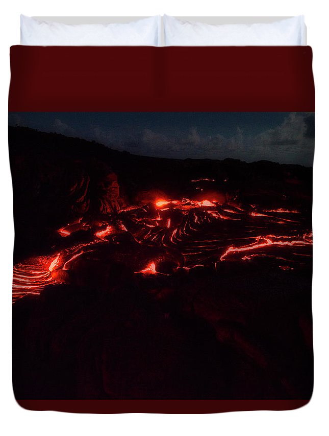 Hawaii Duvet Cover featuring the photograph Terraced Flow by Jim Thompson