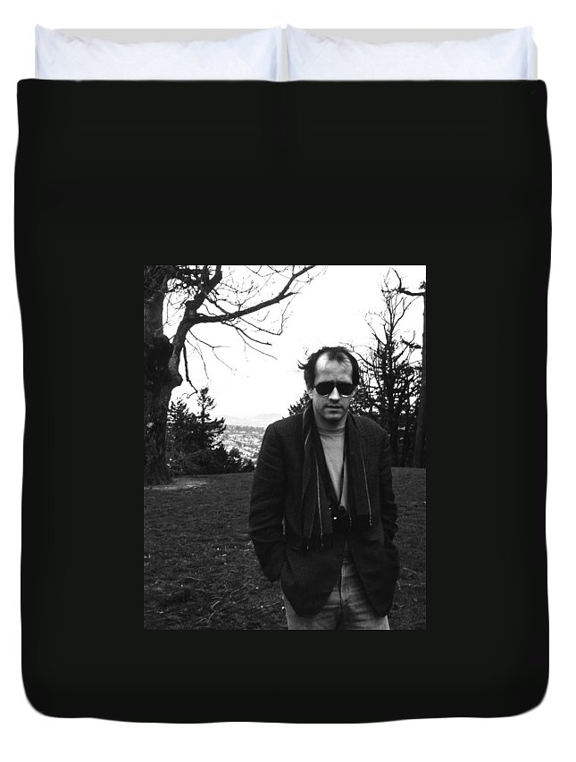 Portrait Duvet Cover featuring the photograph Terry by Lee Santa