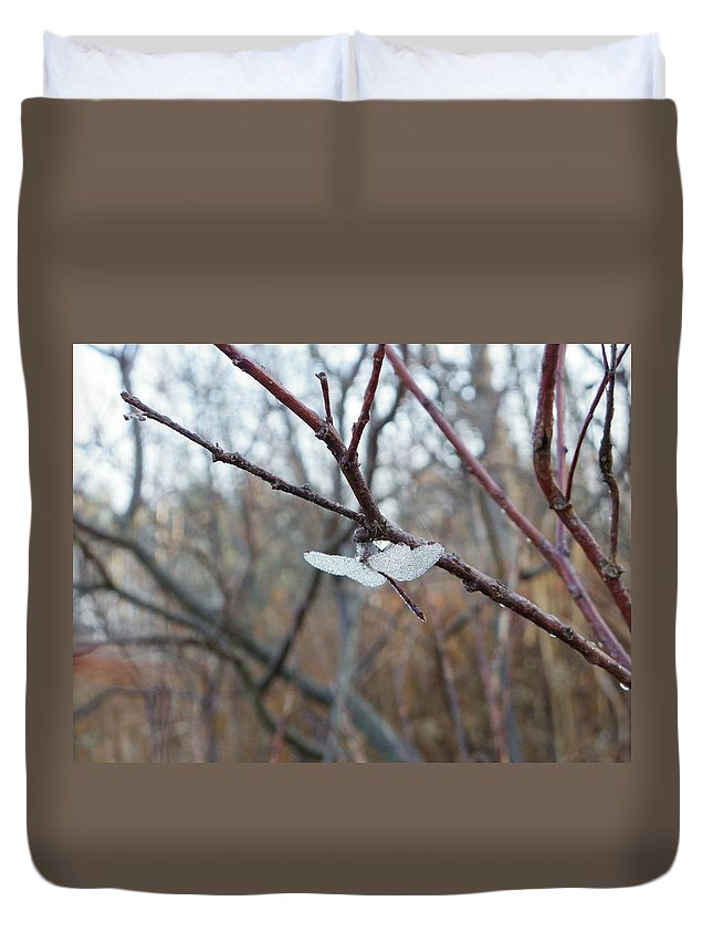 Bugs Duvet Cover featuring the photograph Tete-a-tete by Peggy King