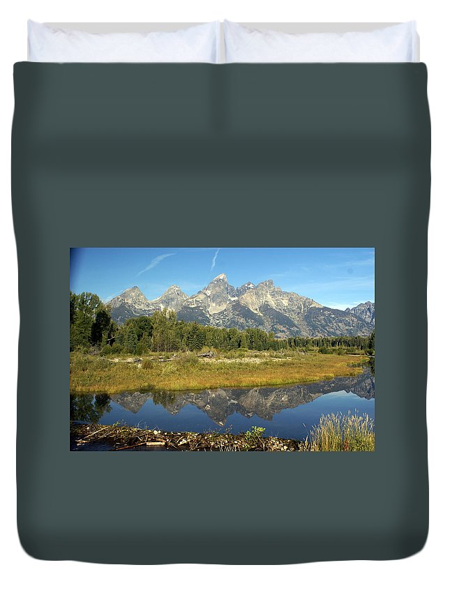 Grand Teton National Park Duvet Cover featuring the photograph Teton 5 by Marty Koch