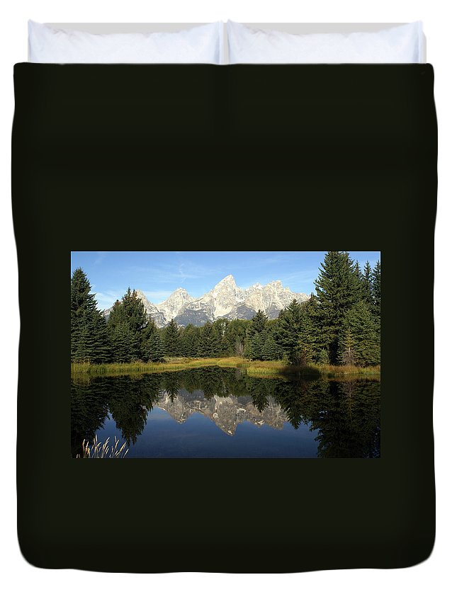 Grand Teton National Park Duvet Cover featuring the photograph Teton 6 by Marty Koch
