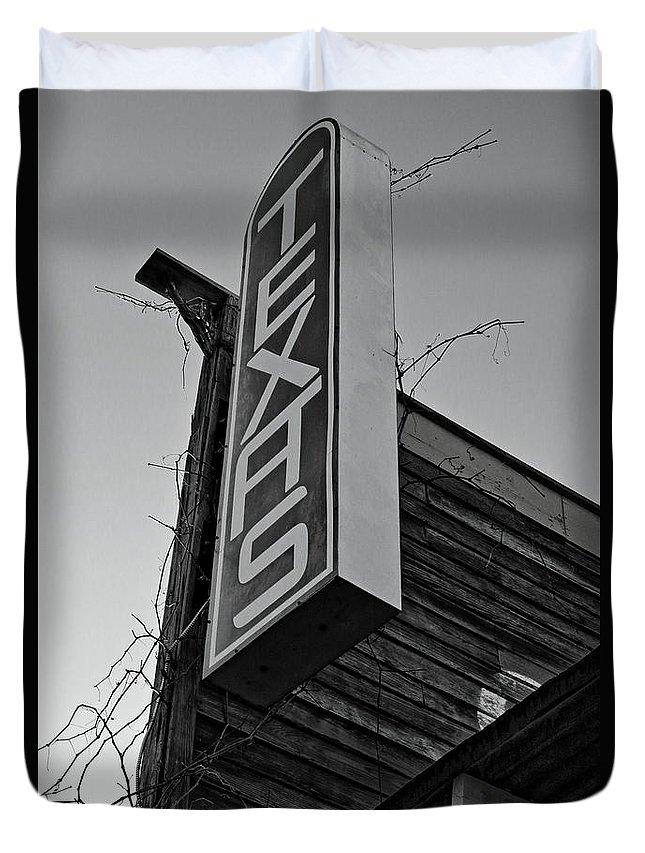 Texas Duvet Cover featuring the photograph Texas by Daniel Koglin