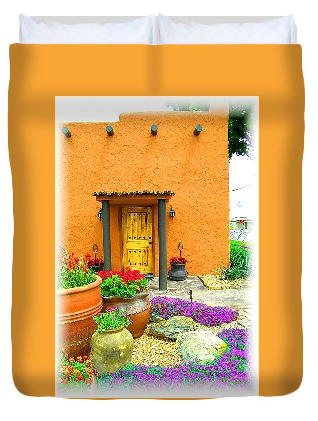 Adobe Duvet Cover featuring the photograph Texas Fiesta-style by Gale Cochran-Smith