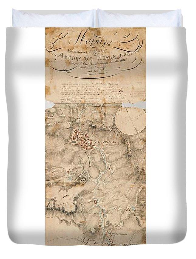 Map Of Texas 1835.Texas Revolution Santa Anna 1835 Map For The Battle Of San Jacinto With Border Duvet Cover
