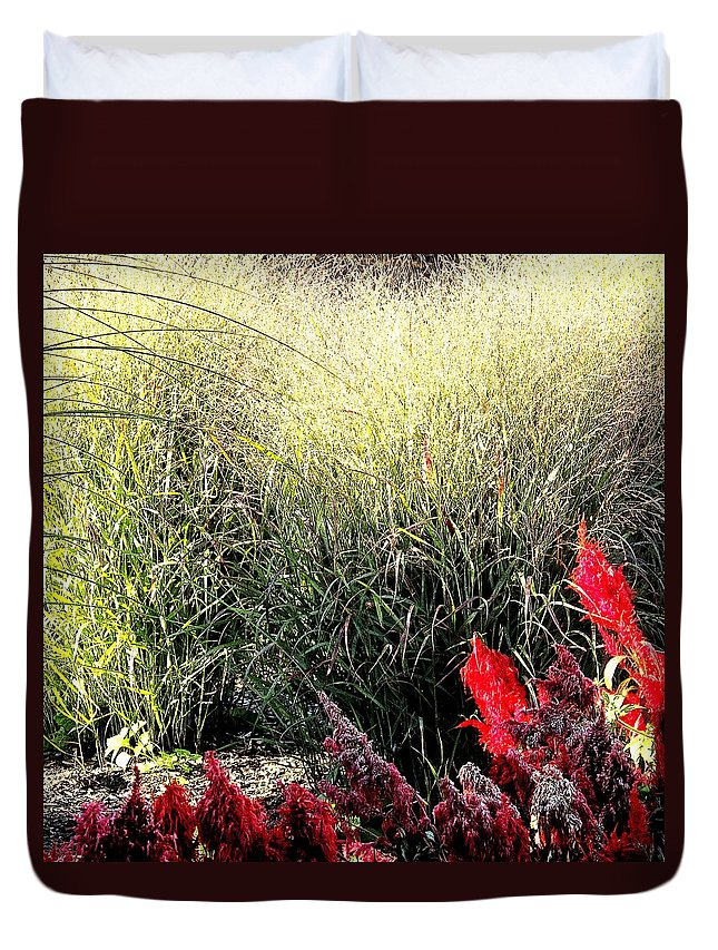 Red Duvet Cover featuring the photograph Texture And Detail by Ian MacDonald