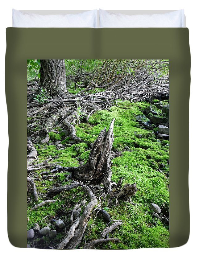 Nature Duvet Cover featuring the photograph Textured by Peggy King