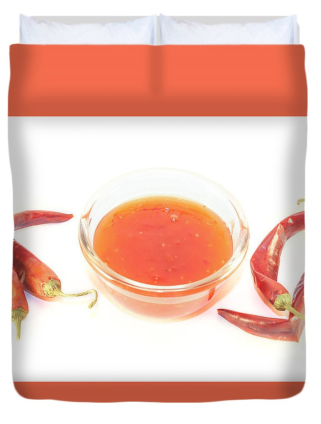 Sauce Duvet Cover featuring the photograph Thai Chili Sauce by D R