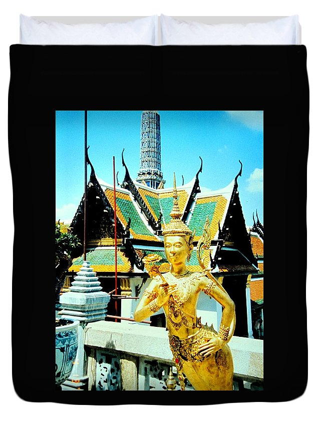 Bangcock Duvet Cover featuring the photograph Thailand by Ian MacDonald