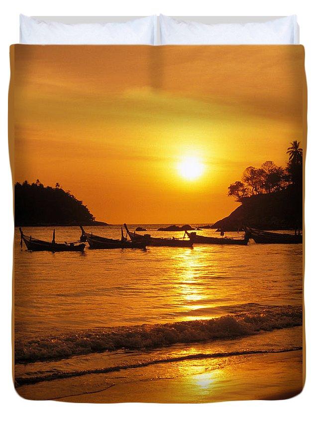 Beach Duvet Cover featuring the photograph Thailand, Phuket by Rita Ariyoshi - Printscapes