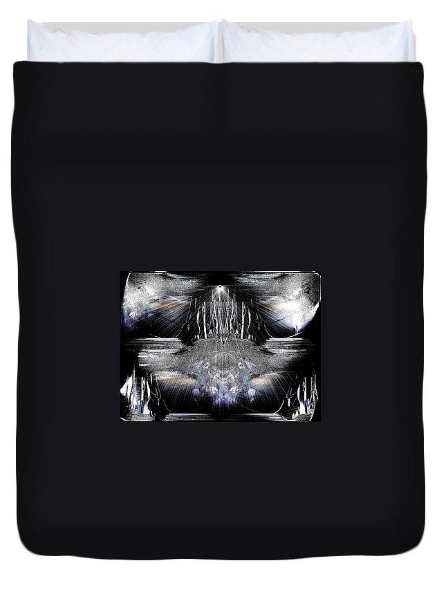 Greek Duvet Cover featuring the digital art Thanatos by Michael Damiani