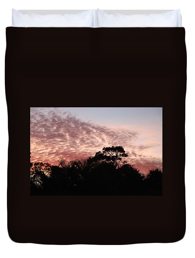 Sky Duvet Cover featuring the photograph Thanksgiving Sky by Rob Hans