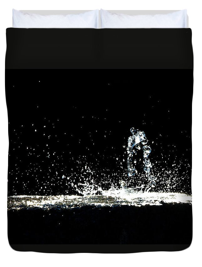 Art Duvet Cover featuring the photograph That Falls Like Tears From On High by Bob Orsillo