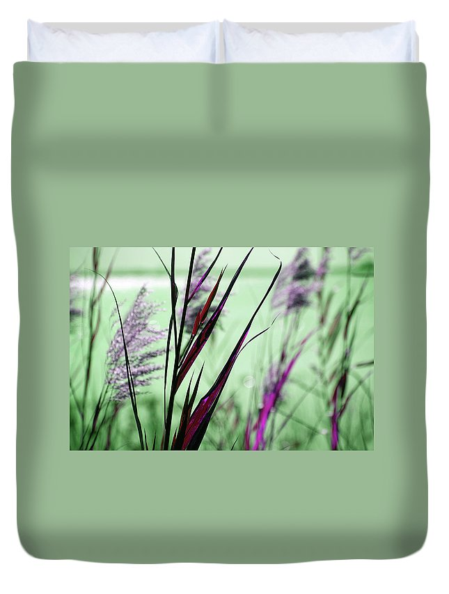 Magic Duvet Cover featuring the photograph That Magic Color by Susanne Van Hulst