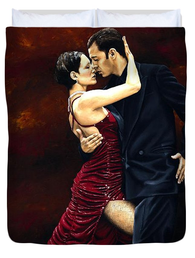 Tango Duvet Cover featuring the painting That Tango Moment by Richard Young