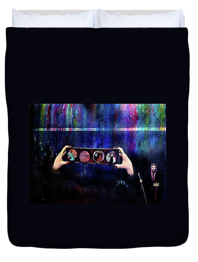 Apolcalypse Duvet Cover featuring the painting The 4 Horsemen Of The Apocalypse by Albert Puskaric