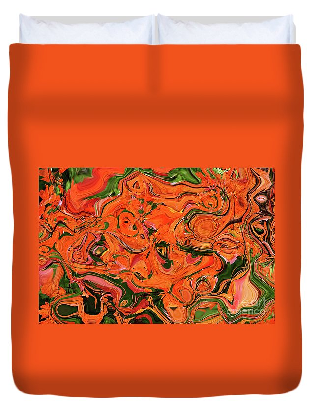 Autumn Duvet Cover featuring the photograph The Abstract Days Of Autumn by Andee Design