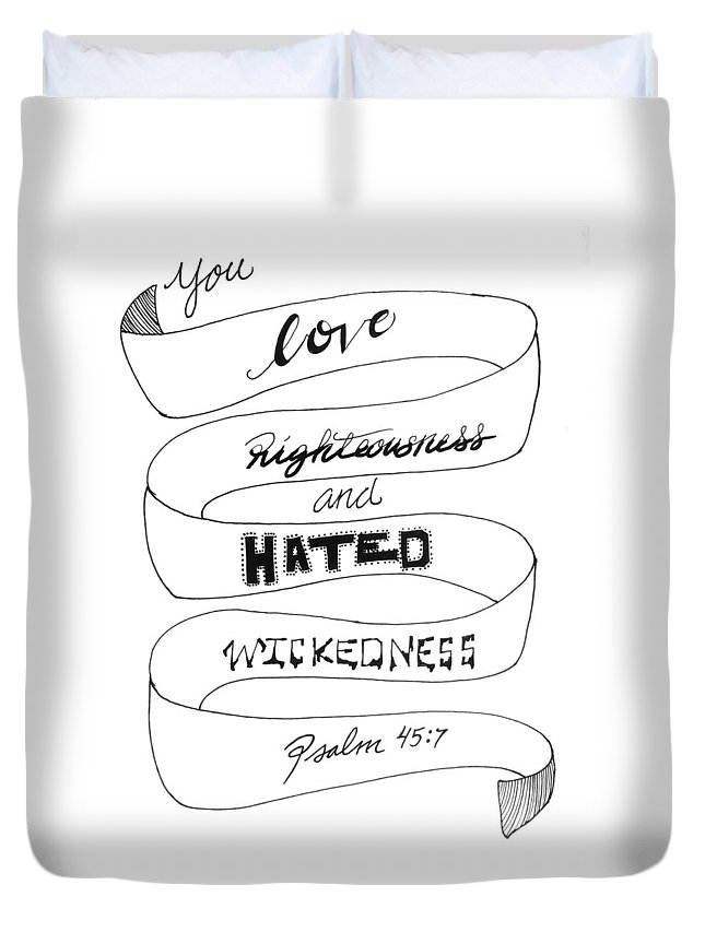 Psalm 45 Duvet Cover featuring the drawing The Adored One by Kel Splendorous Strokes