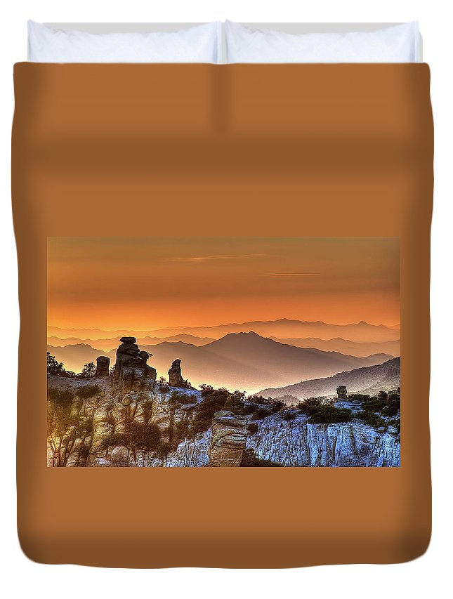 Arizona Duvet Cover featuring the photograph The Ahh Moment by Lynn Geoffroy