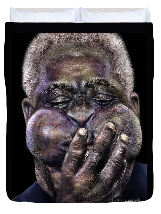 Dizzy Gillespie Duvet Cover featuring the painting The Amazing Gillespie by Reggie Duffie