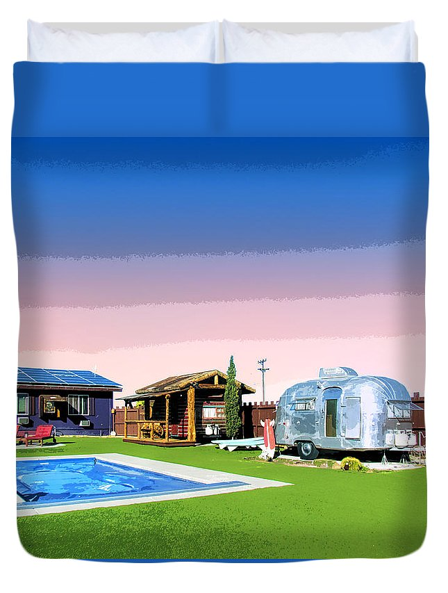 Pop Art Duvet Cover featuring the photograph The American Dreamstate 1 by Dominic Piperata