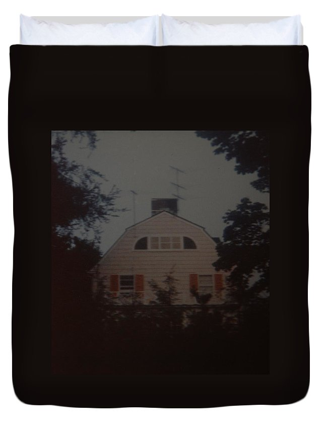 The Amityville Horror Duvet Cover featuring the photograph The Amityville Horror by Rob Hans