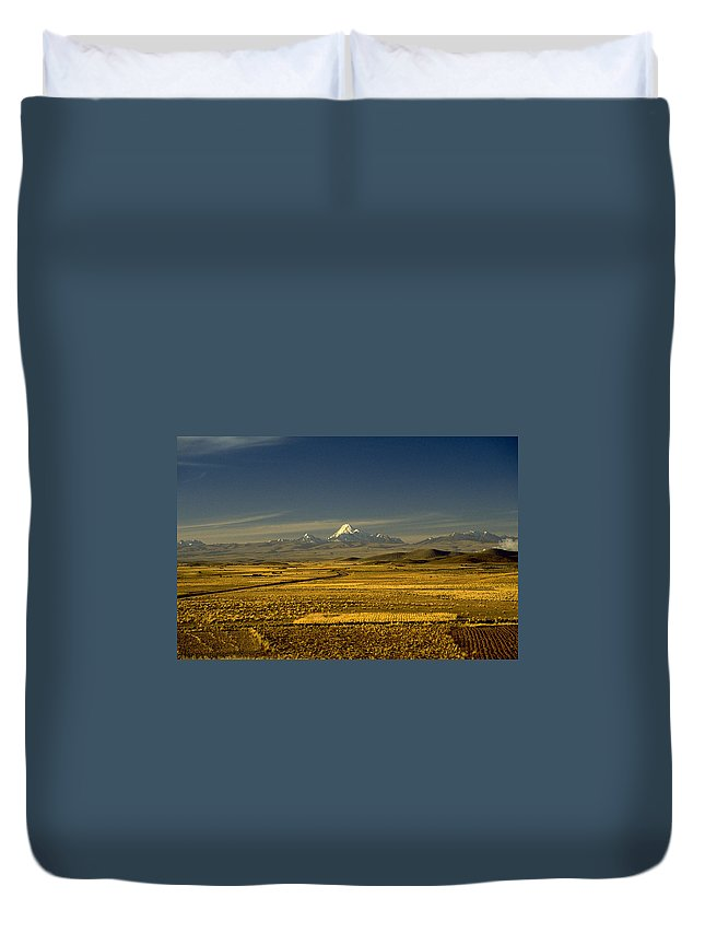 Latin America Duvet Cover featuring the photograph The Andes by Michael Mogensen