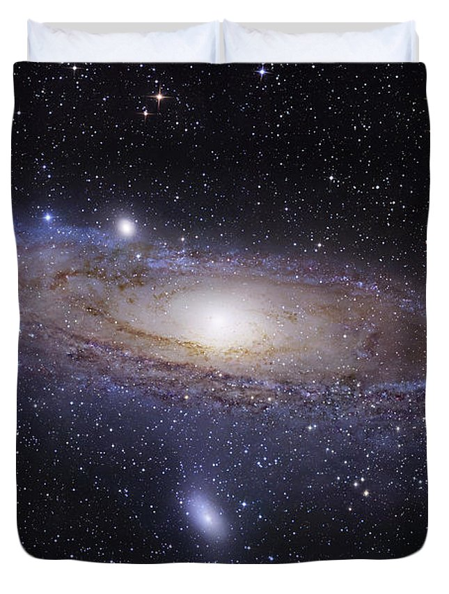 Andromeda Duvet Cover featuring the photograph The Andromeda Galaxy by Robert Gendler