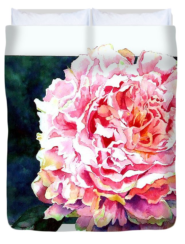 Peony Duvet Cover featuring the painting The Ant's Castle by Linda Marie Carroll