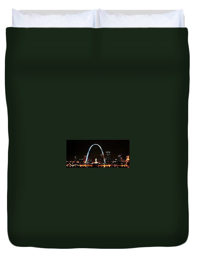 St Louis Duvet Cover featuring the photograph The Arch by Anthony Jones