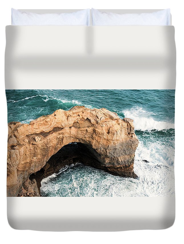 Arch Duvet Cover featuring the photograph The Arch At Port Campbell National Park by Rob D