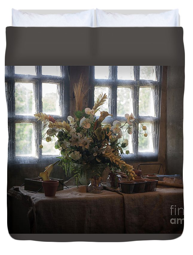 Floral Duvet Cover featuring the photograph The Arrangement by Lisa Hurylovich