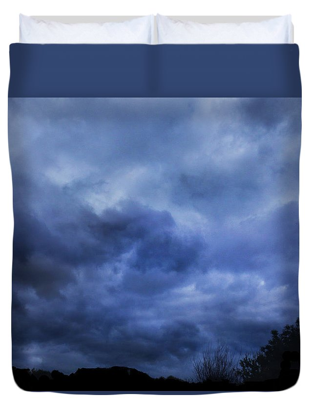 Storm Duvet Cover featuring the photograph The Arrival by Mark Blauhoefer