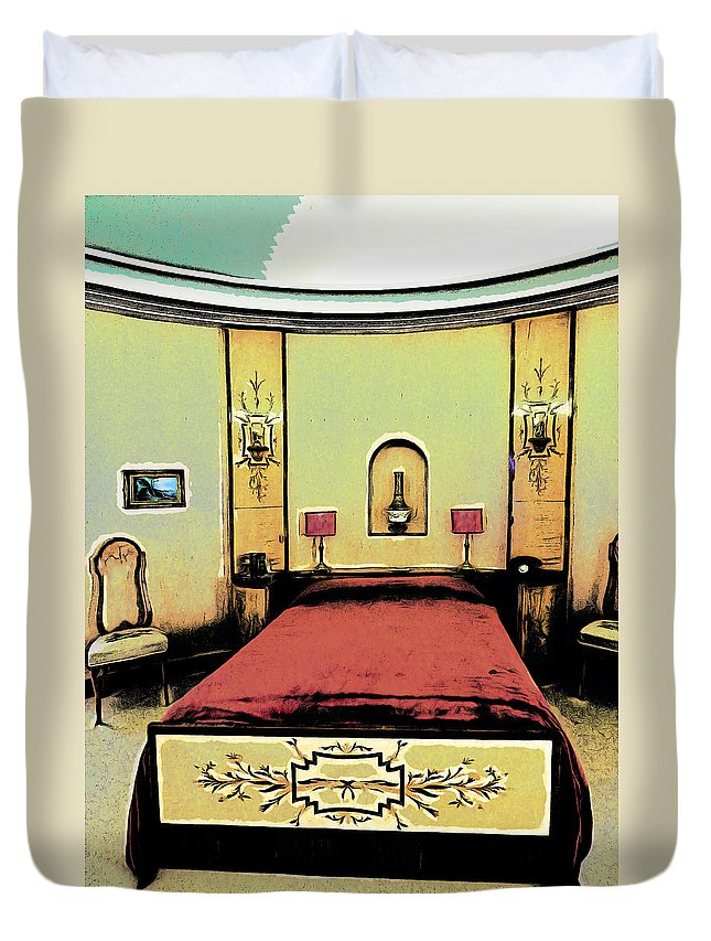 Art Duvet Cover featuring the photograph The Art Deco Bedroom by Steve Taylor