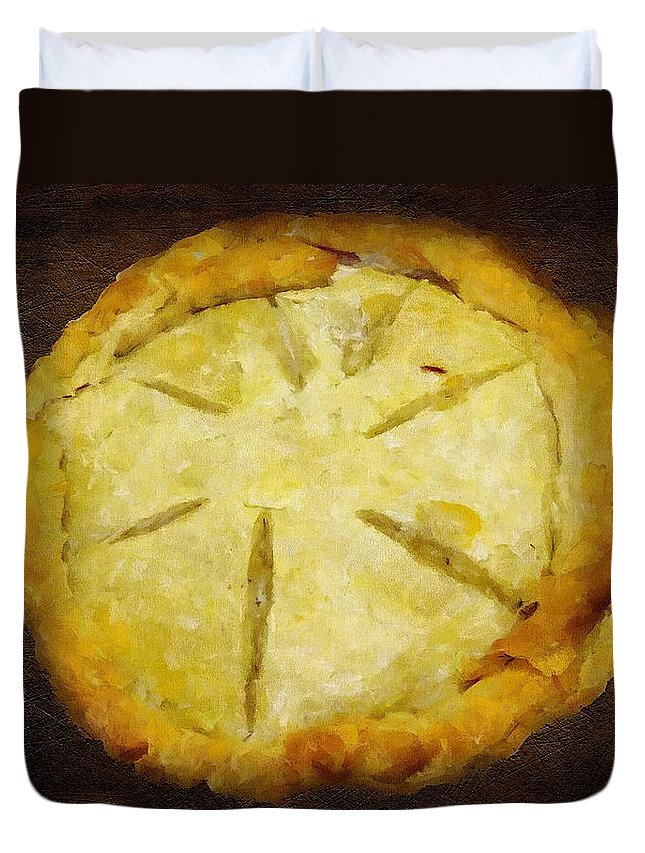 Pie Duvet Cover featuring the painting The Art Of The Pie by RC DeWinter