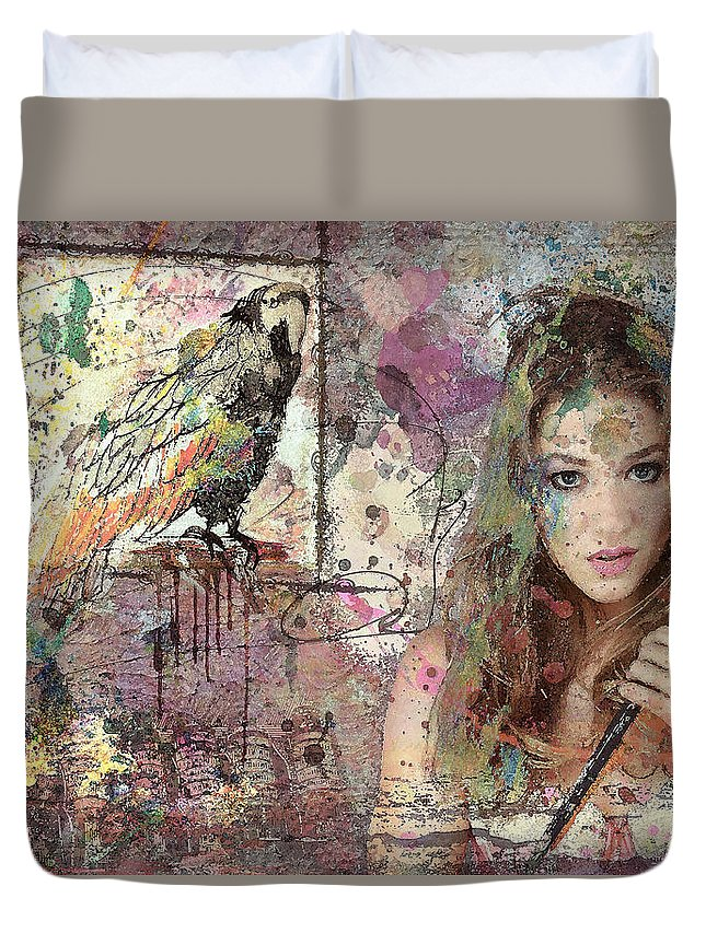 Artist Duvet Cover featuring the digital art The Artist by Rosemary Smith