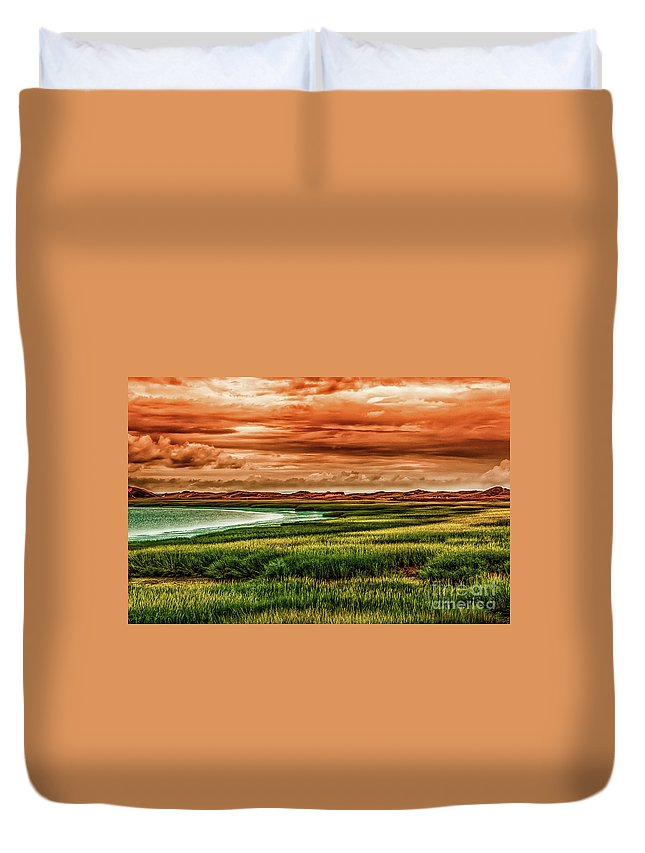 Cape Cod Duvet Cover featuring the photograph The Atlantic White Cedar Swamp Trail by Heather Hubbard