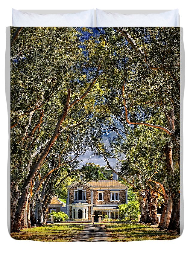 Avenue Duvet Cover featuring the photograph The Avenue by John Clemens
