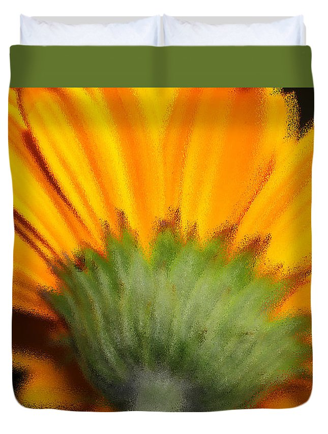 Gerbera Duvet Cover featuring the photograph The Backside by Marnie Patchett