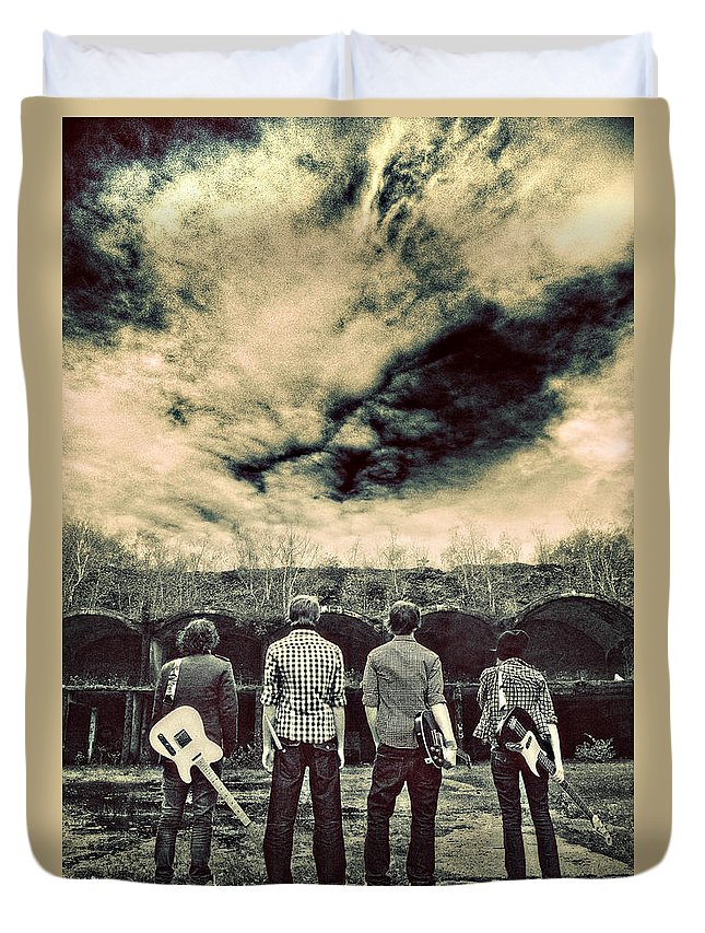 Band Duvet Cover featuring the photograph The Band Has Arrived by Meirion Matthias