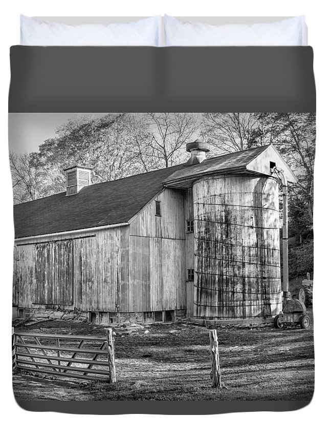 Barnyard Duvet Cover featuring the photograph The Barnyard by Bill Wakeley